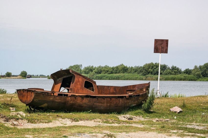 Danube DanubeDelta Sulina WreckedShip Abandoned Boat Damaged Danube România Danube Delta ,romania Danube River Day Grass Mode Of Transport Nature Nautical Vessel No People Outdoors Rusty Sky Tranquil Scene Tranquility Transportation Water Wrecked Wrecked Boat.