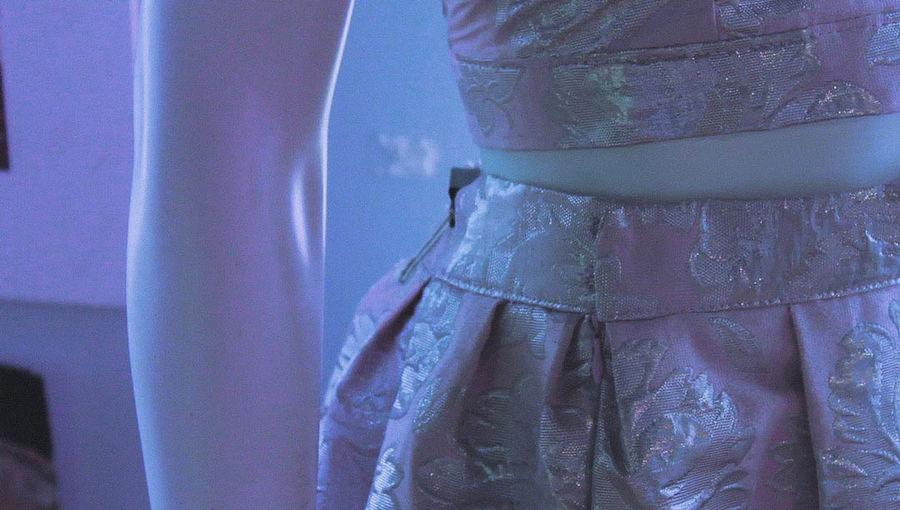 details NewToEyeEm EyeEmNewHere Pink Purple Pinkhues Purplehues Artshow Mannequin Floraldress Floral Blue Details