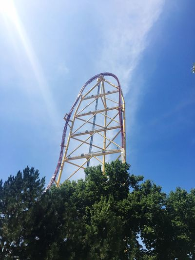 Topthrilldragster Cedar Point Low Angle View Amusement Park Amusement Park Ride