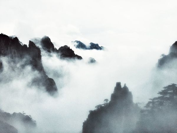 IPhoneography Travelling Travel Enjoying Life Nature No People Landscape Mountains China Clouds Fog Huangshan Showing Imperfection