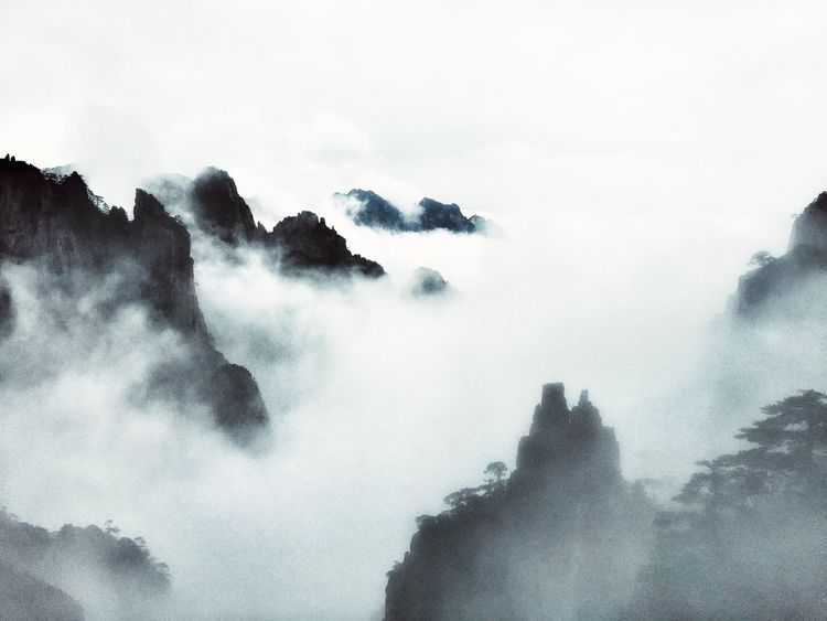 Beauty In Nature IPhoneography Travelling Travel Enjoying Life Nature No People Landscape Mountains China Clouds Fog Huangshan Showing Imperfection