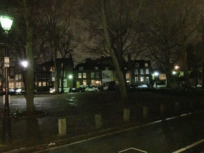 Pond Square, Highgate Night Illuminated Street City Architecture Building Exterior Street Light
