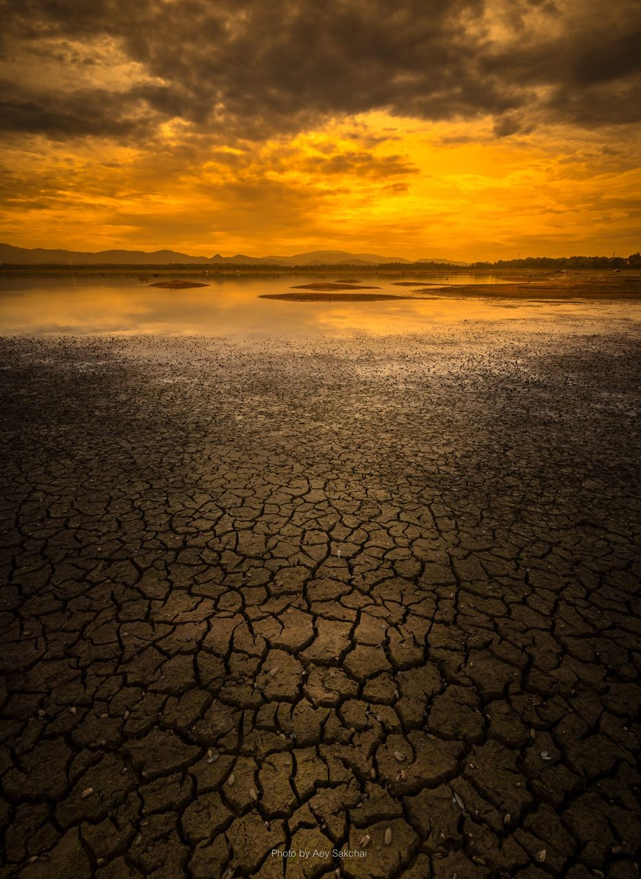 Barren Landscape During Sunset