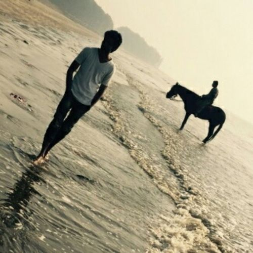 Daman Umergaown Robinraj Mrrob MrRobPhotography Walk Alone Sad Sunset Beach Horse