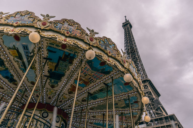Eiffel tower look up. Dreaming Eiffel Tower Fairytale  France Paris Wheel Amusement Park Carnaval Childdreams Cloudelicious Lookup Sky