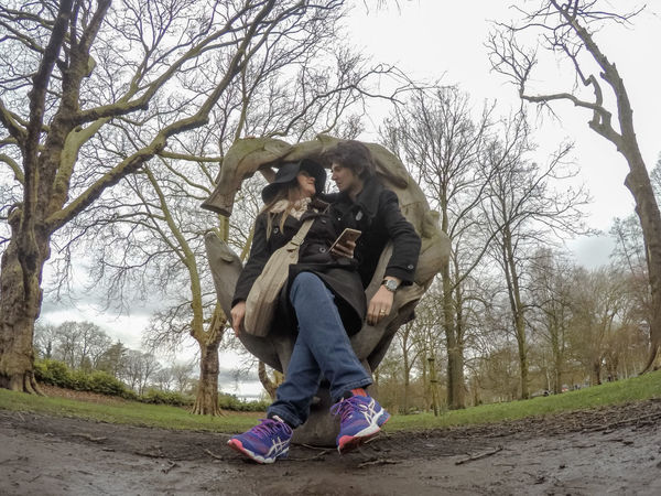 Asics Casual Clothing Eye Em Nature Lover EyeEm Masterclass Fisheye Front View Leisure Activity Love Men Nature Real People Selfie Shapes In Nature  Showcase March Together Togetherness Trainers Travel Photography Trees Women People Together Love Yourself Press For Progress