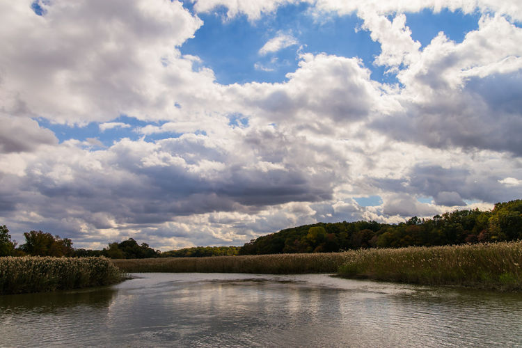 Cloud Cloud - Sky Cloudy Landscape No People Outdoors Plant River Sky Tranquil Scene Water