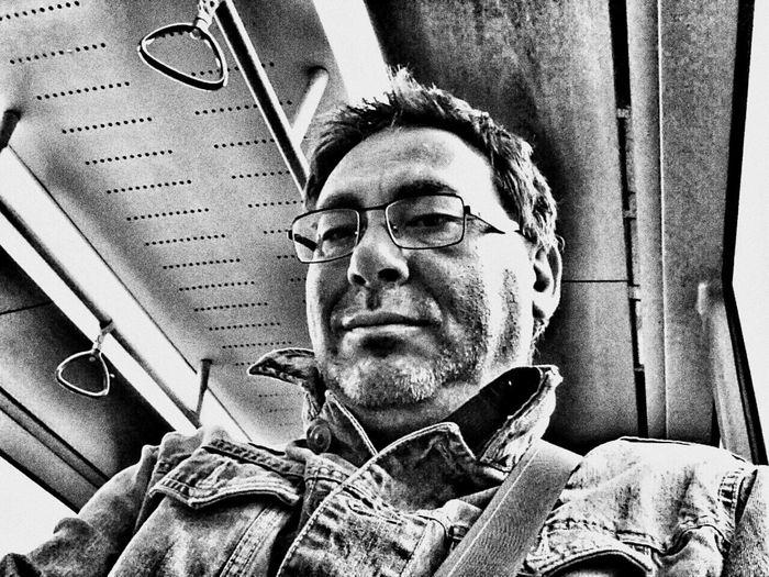 Tuesday_selfportrait_nonchallenge Blackandwhite Public Transportation