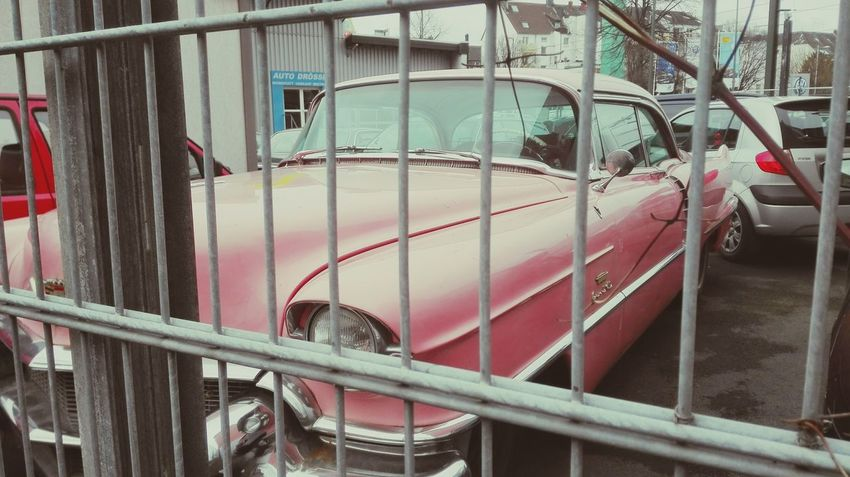 Millennial Pink Cadillac Pink Color Awesome Mode Of Transport No People Outdoors Transportation Day