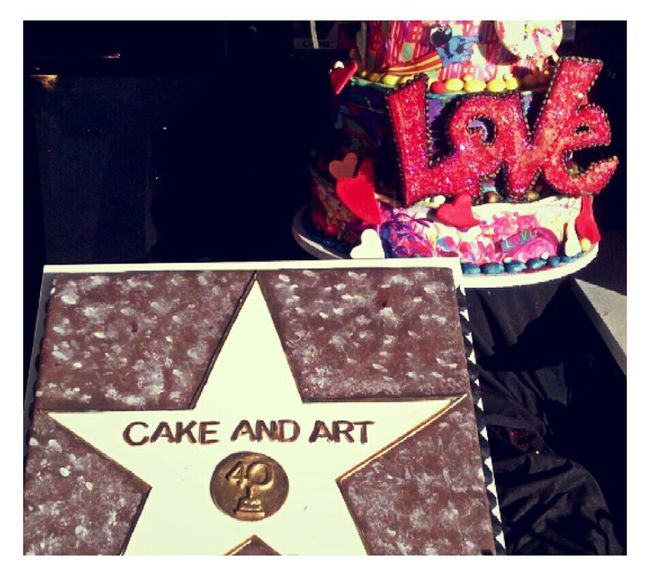 Love Cake and Art Walkabout Sidewalk Discoveries Taking Photos Cakeandart West Hollywood California Badmonkeyla Photography Funwithfilters Moments Of Color OriginalCreatives Good Stuff