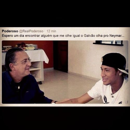 Hahaha tudo é possível!!! Copa2014 AcordaCupido Galvão Neymar  InstaSize