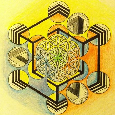 Nofilter Sacredgeometry Floweroflife Love elevated vibes layers dots lines colors impossibleshape