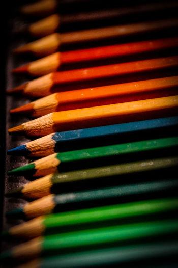 coloring pencils Buntstifte Buntstifte Close-up Colored Pencil Coloring Pencils Day In A Row Indoors  Multi Colored No People Pencils
