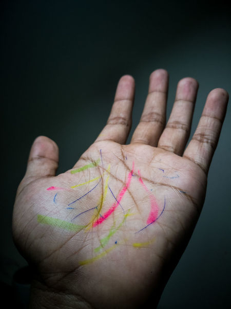 the dirty hand from stationary Dirty Messy Hands Stained Grubby Palm Body Part Hand