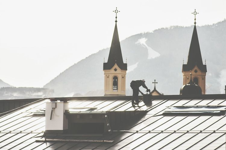 Looks like the Church needs a fix. Repairs Church Construction Worker Bell Tower Cityscapes Urban Lifestyle Roof Learn & Shoot: Layering Urban Landscape Seeing The Sights