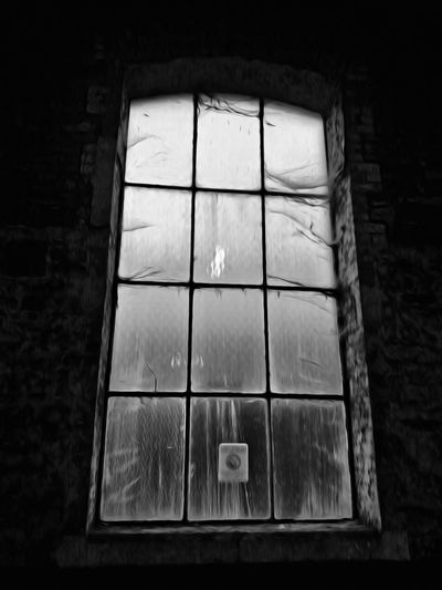 Indoors  Window No People Architecture Old Buildings Dark Built Structure Cobwebs On A Window Dusty Place