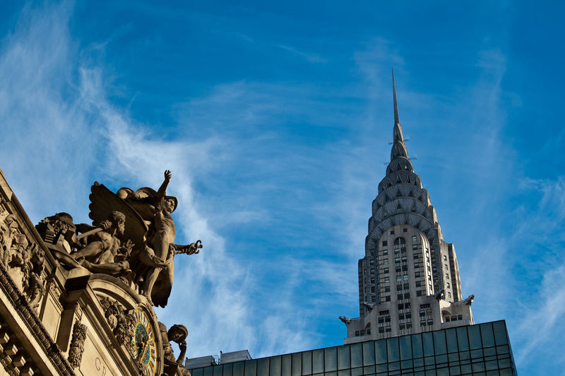 Chrysler building and grand central statues