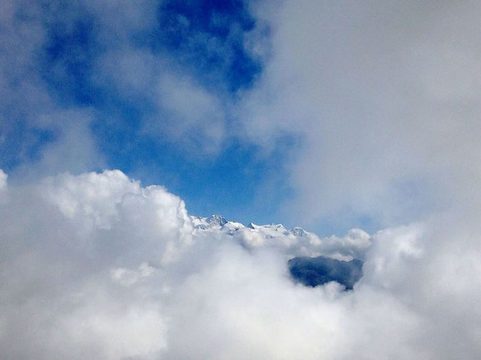 From The Top  of the Mountain, Zerbion; Monte Rosa among the Clouds Blue Sky From My Point Of View Nature Photography
