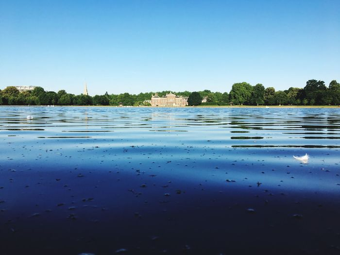 Hyde Park Water Lake Blue Nature Clear Sky Peacefulplace