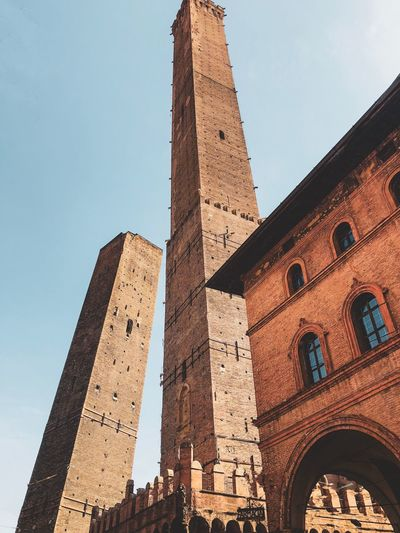 Two Towers - Bologna Emiliaromagna Bologna_city Bologna Italy Two Towers Built Structure Low Angle View Sky The Past Travel Destinations Tower Tourism