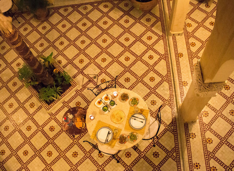 Moroccan Breakfast Africa African Breakfast Brunch Granite Marrakech Morocco Northernafrica Palmtree Romantic TiledFloor Tiles Travelling