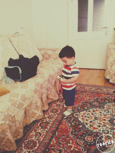 O bir küçük canavar :)