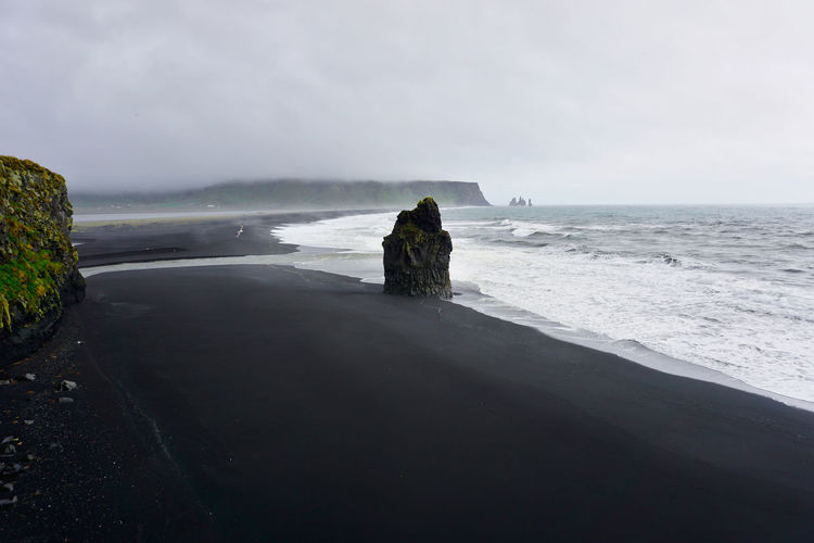 Iceland Beach Beauty In Nature Black Beach Horizon Horizon Over Water Icelandic Beach Land Long Exposure Motion Nature No People Outdoors Power In Nature Reynisfjara Rock Rock - Object Rock Formation Scenics - Nature Sea Sky Stack Rock Tranquil Scene Water Wave