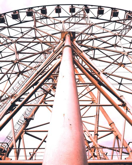 EYE Low Angle View Day No People Amusement Park Built Structure Outdoors Sky Architecture