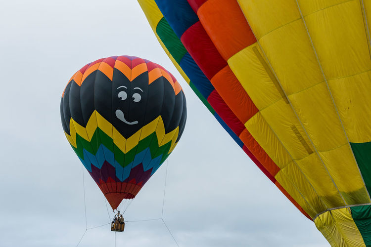 Colorful Day Fun Hot Air Balloon Hudson Valley Hot-Air Balloon Festival Low Angle View Multi Colored Outdoors