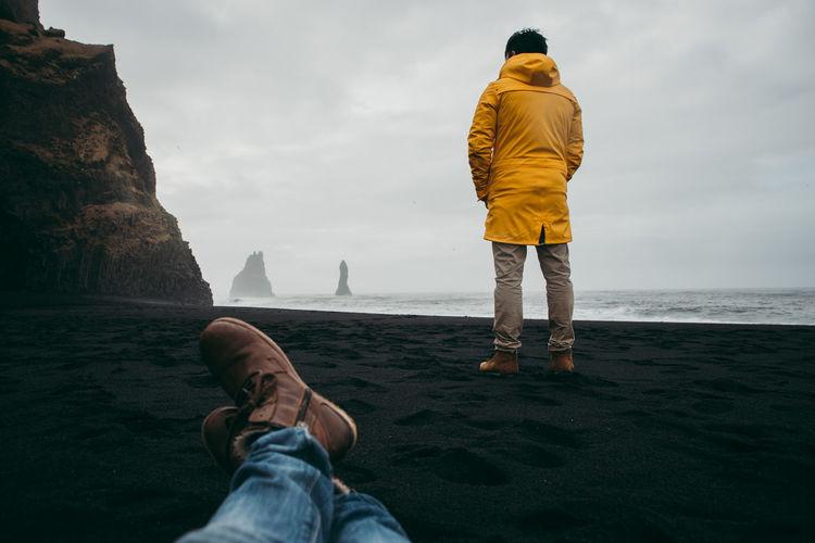 Man standing at beach