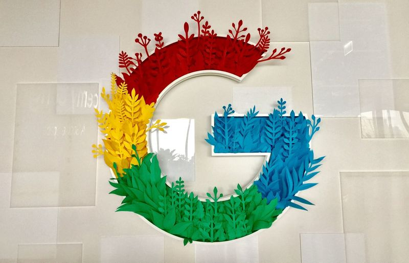 Google Sign Wall Creativity Wall - Building Feature Art And Craft Red No People Multi Colored Green Color Western Script Nature Decoration Architecture Text Animal Representation Indoors  Representation Close-up Paint Craft Pattern