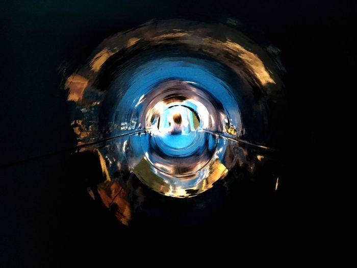 Illuminated tunnel in water