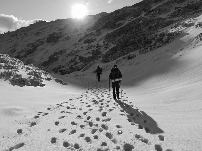 """Follow the steps / Descent"", Southern Velebit, Croatia, 2017. Vaganski Vrh Croatia Landscape Snow Paklenica National Park Hiking Leisure Activity Adventure Mountain Scenics Sunlight"