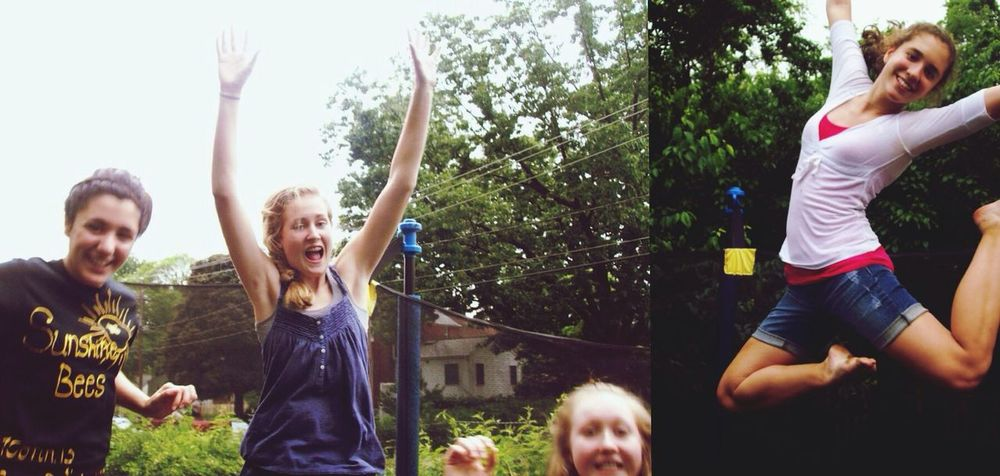 TBT  to 8thGrade Qualitytrampolinetime Justgrassythings