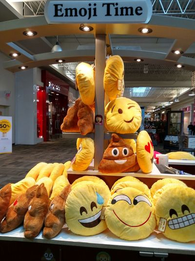 Mall Time  Christmas Shopping Christmas Display Tistheseason Emojipillow Silly Faces  Novelty Shop Just Silly... Poop! Emoji 🙈🙉🙊