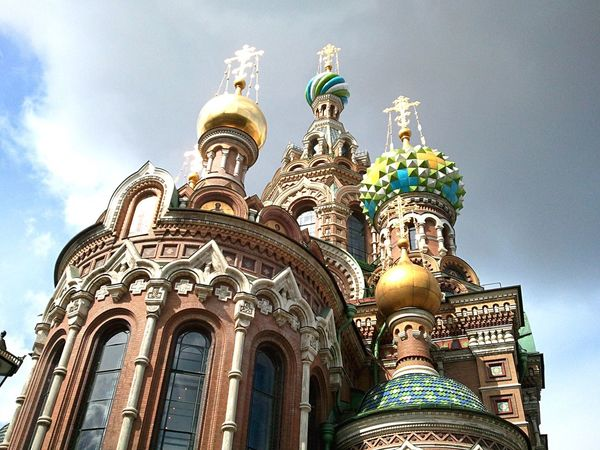 Neighborhood Map Church Blood Church Of The Savior On Spilled Blood St Petersburg Low Angle View