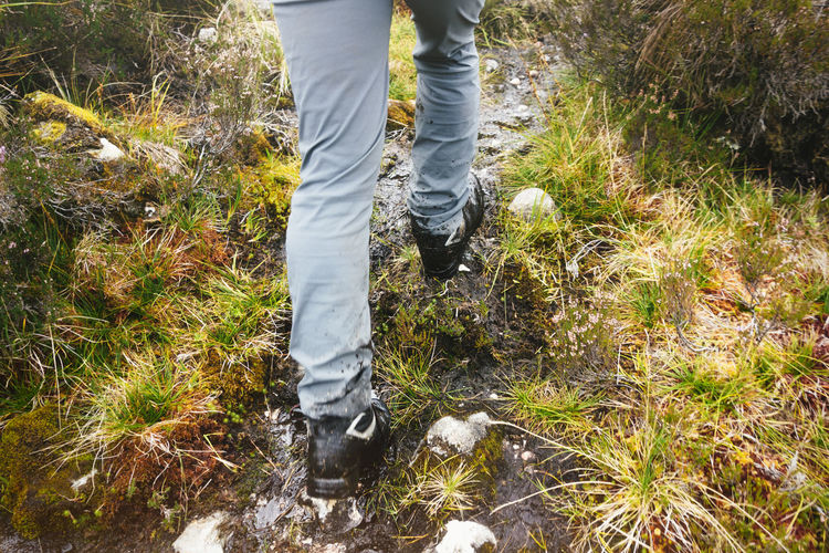 Boots Exercise Glencoe Hiking Path Scotland Travel Active Lifestyle  Activity Adventure Countryside Healthy Lifestyle Hiker Journey Legs Muddy Nature Outdoors Real People Survival Trail Trousers Walking Wild Wilderness