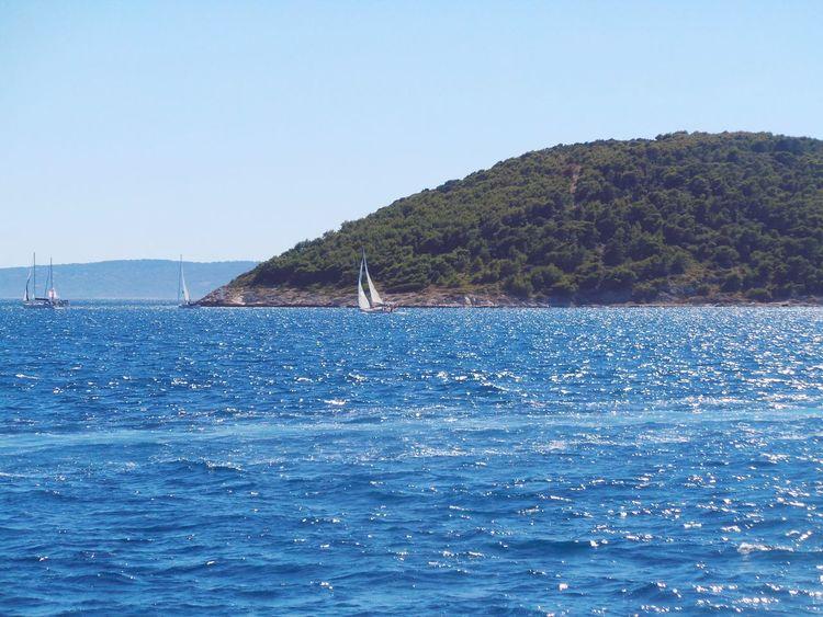 Adriatic Adriatic Sea Beauty In Nature Blue Calm Ciovoisland Clear Sky Croatia Dalmatia Day Island Nature Outdoors Sailboat Sailboats Sailing Scenics Sea Seascape Split Tranquil Scene Tranquility Water Waterfront čiovo