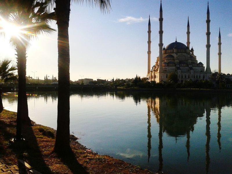 In Adana Relaxing Walking Around Taking Photos Sunbathing Mosque River Seyhan River
