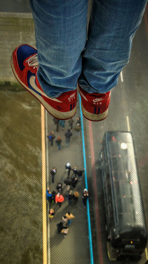 Above Dizziness Glass - Material Glass Floor High Angle View Human Body Part Human Leg Indoors  Low Section Nike Nike, Just Do It Nike✔ One Person People People Walking  Shoe Standing Tower Bridge  Tower Bridge London Vertigo Neighborhood Map The Street Photographer - 2017 EyeEm Awards Tower Bridge  Check This Out EyeEm Gallery Out Of The Box EyeEm LOST IN London