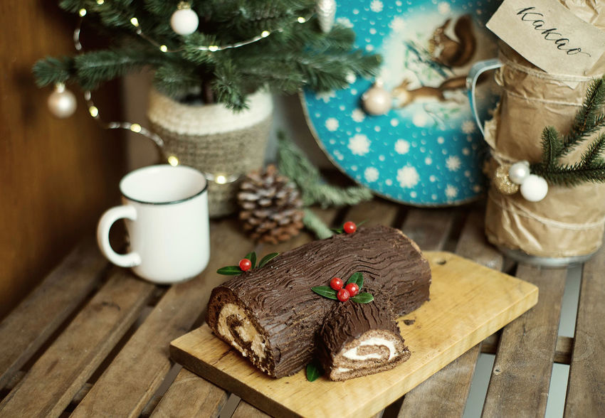 Christmas Holiday Interior Decorating MerryChristmas Cafe Cake Celebration Christmas Christmas Decoration Christmas Ornament Christmas Tree Cookery Food Food And Drink Happy New Year Interior Kitchen No People Table Wood - Material