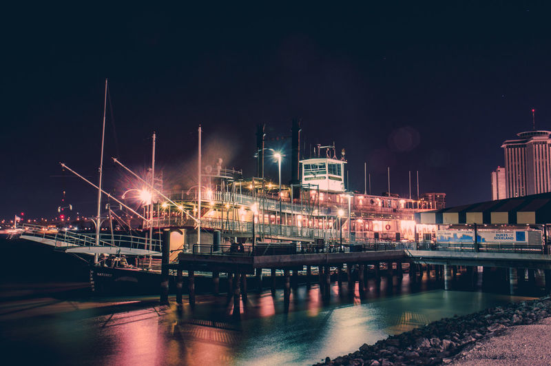 Architecture Building Exterior Built Structure City Illuminated Industry Nautical Vessel Night No People Outdoors Power Station River Sky Travel Destinations Water Waterfront