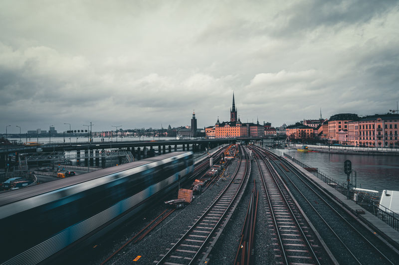 Subway train passing by in stockholm