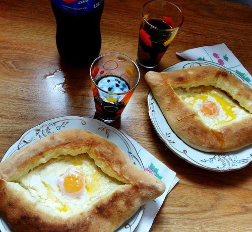 Adjara Khachapuri Batumi Food Georgia Rccola Table Breakfast Breakfast Time Mobilephotography EyeEm Morning