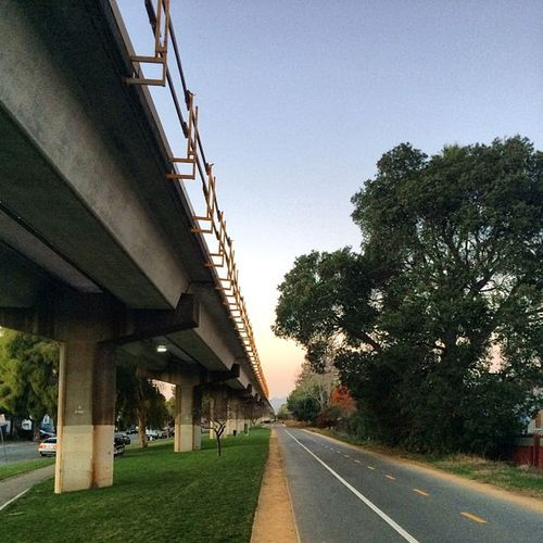 #ohlone #greenway and #BART #tracks from a different #perspective