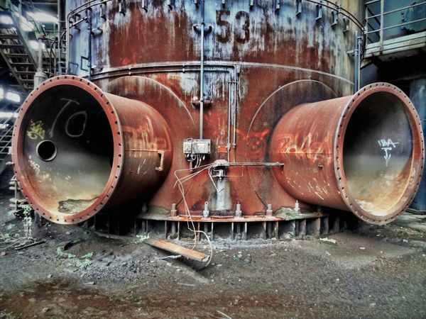 Hösch 11 Close-up Day History Industry Iron Manufactoring Iron Producing Metal No People Outdoors Rusty Steam Train Steel Works Steelmill Technical Monument