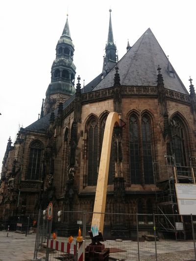 Architecture Built Structure Building Exterior Church Tower Church Architecture Leimbinder Architectural Column Place Of Worship History Façade Outdoors Church Famous Place Exterior Pediment In Front Of Sky Tourism Day Spire  Entrance Steeple Zwickau Dom Stützen