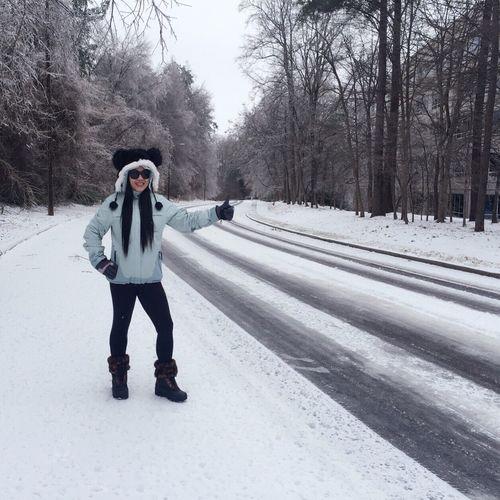Snow Hitchhiking Winter USA EyeemPhilippines Beauty Asian  Filipina Enjoying Life Happiness