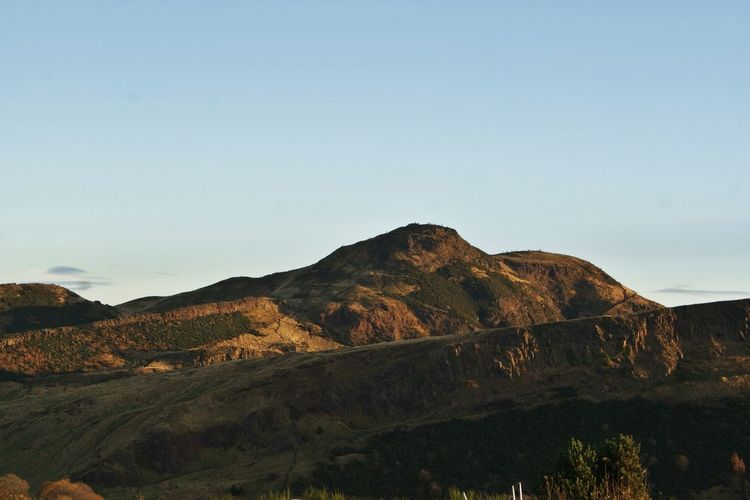 Arthur's Seat Autumn Beauty In Nature Clear Sky Clear Sky Day Edinburgh Great Britain Landscape Mountain Nature Nature No People Non-urban Scene Outdoors Scenics Scotland Sky Sunset Tranquil Scene Tranquility Travel