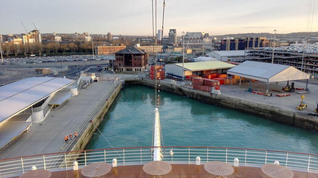 Hafen Hafenbecken Harbour Southhampton City View